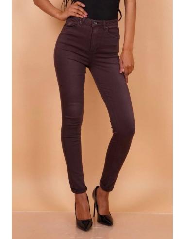 Pantalon Slim Taupe Foncé